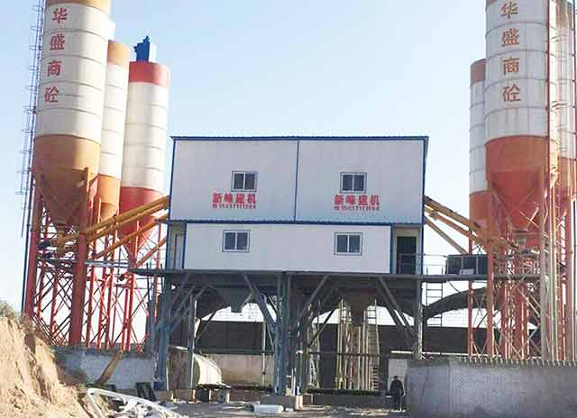 A Double Concrete Batching Plant which's output is 360m3/h !