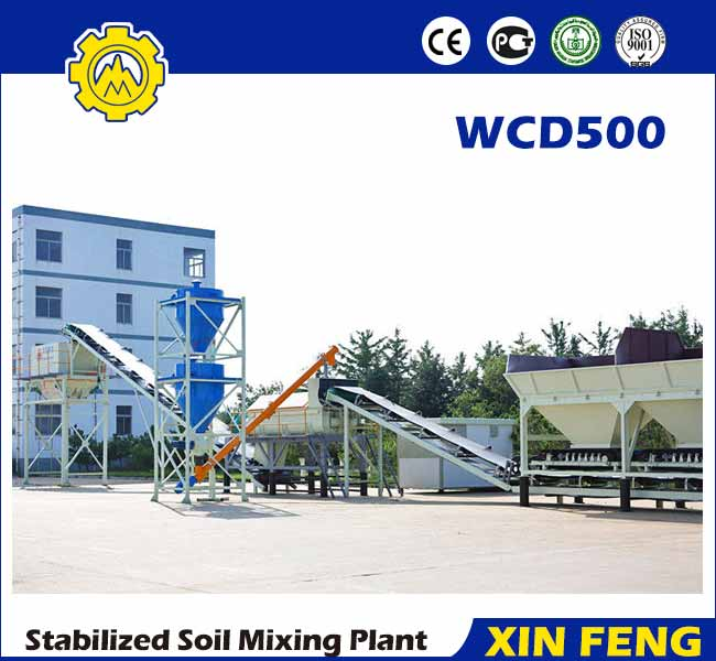 WCD500 stabilized soil batching plant